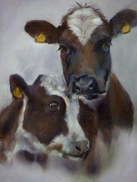 Schilderij Koeien Cosy II van