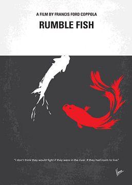 No073 My Rumble fish minimal movie poster van Chungkong Art