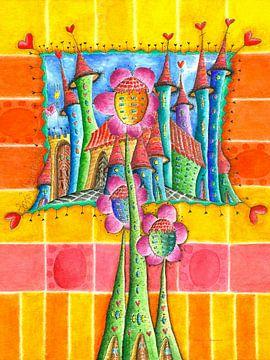 ville aux trois fleurs sur