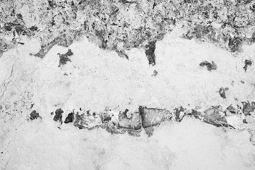 Detail van mergel en vuursteen in de ENCI-groeve Maastricht