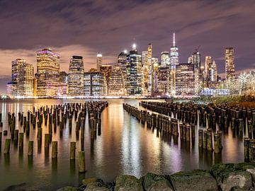 New York skyline view van Chris van Es