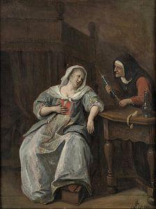 Jan Steen. De zieke vrouw