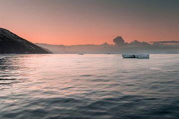 Zonsopkomst Cape Adare Antarctica van