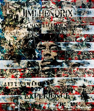 Jimi Hendrix von Frank van Meurs
