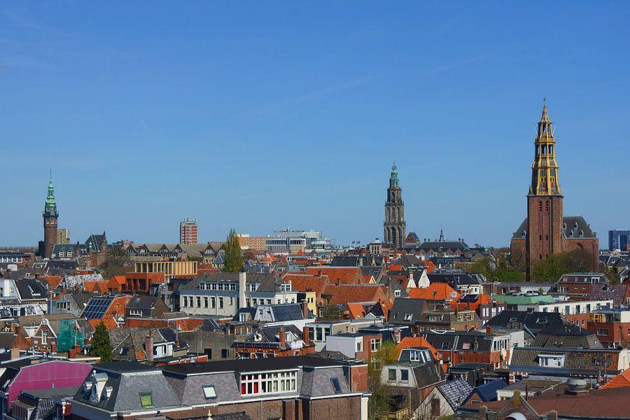 Stadsgezicht Groningen van Michel van Kooten