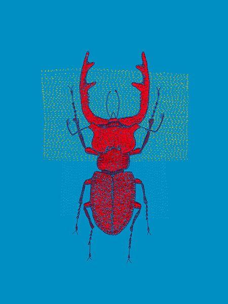 Stitches - Red Stag van > VrijFormaat <