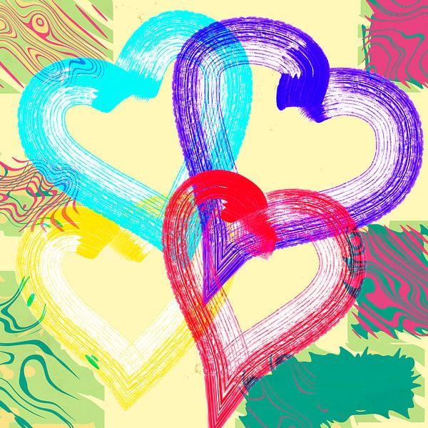 Colorful hearts van Rosi Lorz