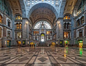 Portal Kathedrale Hauptbahnhof Antwerpen von Rob de Voogd / zzapback