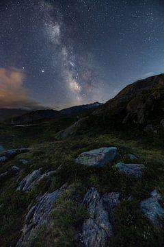Mooie melkweg boven de Franse Alpen van Jos Pannekoek