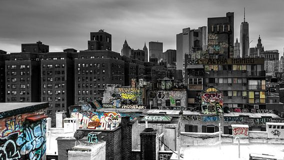 Blick von der Manhattan Bridge van Kurt Krause