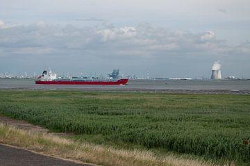 Uitzicht op de haven van Antwerpen von Anita van Hengel