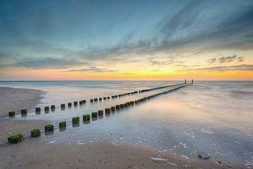 s Avonds op het strand van Domburg