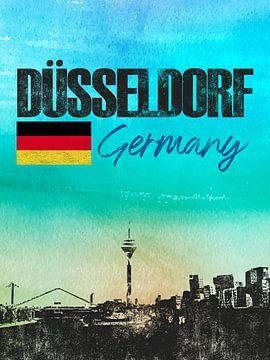 Düsseldorf Deutschland von Printed Artings