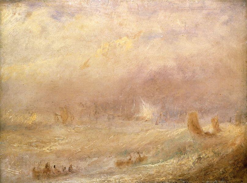 William Turner. Gezicht op de Deal, Kent van 1000 Schilderijen
