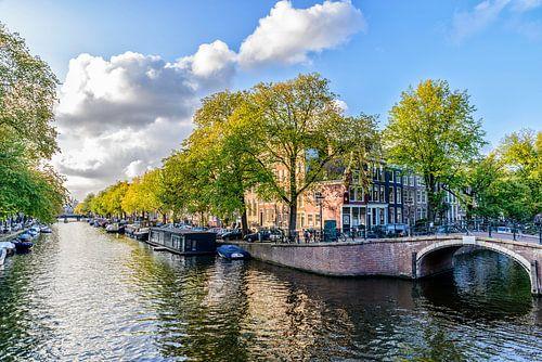De Prinsengracht ter hoogte van de Reguliersgracht in Amsterdam.