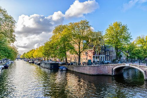 Die Prinsengracht in der Reguliersgracht in Amsterdam.