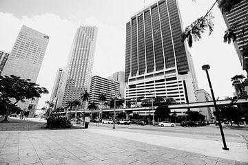 Gebouwen Architectuur in Florida Amerika zwart Wit von Sita Koning