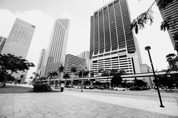 Gebouwen Architectuur in Florida Amerika zwart Wit
