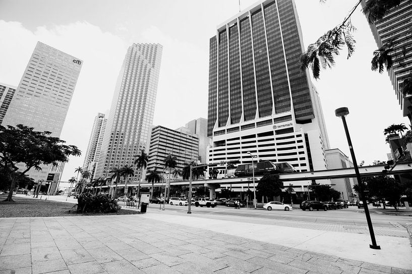 Gebouwen Architectuur in Florida Amerika zwart Wit van Sita Koning