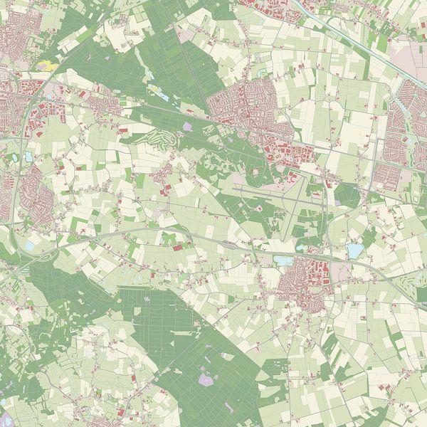 Kaart vanGilze en Rijen van Rebel Ontwerp