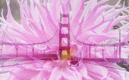 San Francisco Golden Gate Bridge - Double Exposure