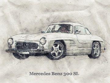 Mercedes Benz von Printed Artings