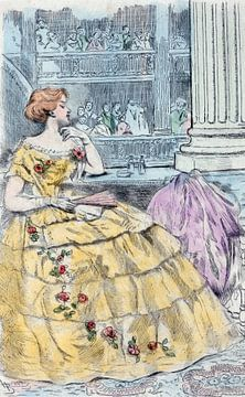 1857, Women's fashion in nineteenth-century Paris, Boutet, Henri (1851-1919), (Artist), 1902 sur