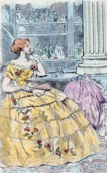 Mode 1857, Mode in het negentiende-eeuwse Parijs, Henri Boutet, (1851 1919) van Liszt Collection