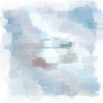 Abstrakt in Blau und Grau von Maurice Dawson