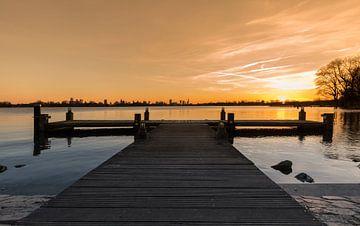 De zonsondergang bij de Kralingse Plas in Rotterdam van MS Fotografie | Marc van der Stelt