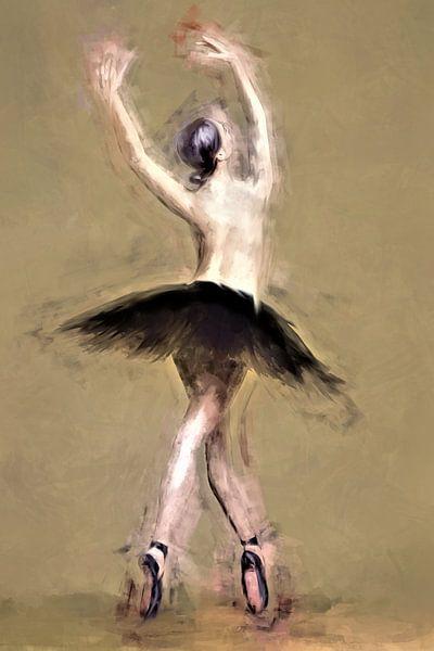 Ballerina op spitzen van Arjen Roos