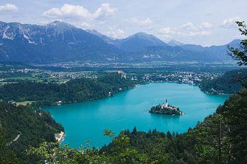 Bleder See inmitten einer Berglandschaft von Steven Marinus