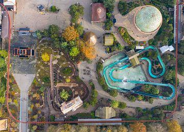Luchtfoto van Attractiepark Slagharen van Michel Sjollema