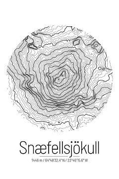 Snaefellsjökull | Topographie de la carte (Minimal) sur City Maps