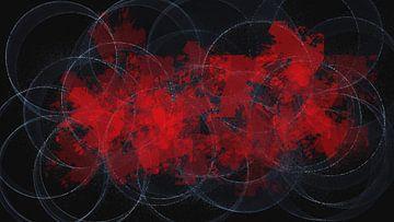Abstract rood zwart wit van Maurice Dawson