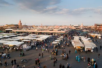 Djemaa el fna, Marrakech sur Keesnan Dogger Fotografie