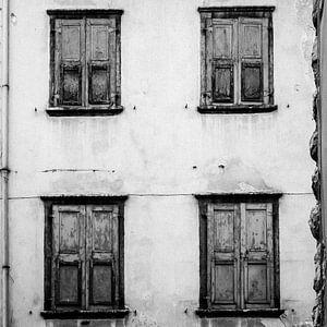 Vier luiken Italië (zwart/wit)