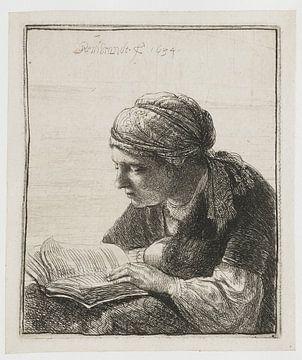 Femme de lecture, Rembrandt van Rijn