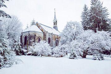 kerkje in de sneeuw van Kristof Ven