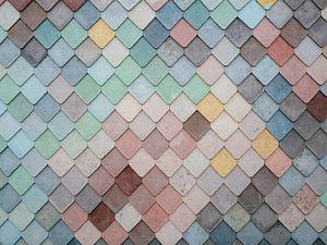 Mozaïek patroon van gekleurde vormen van