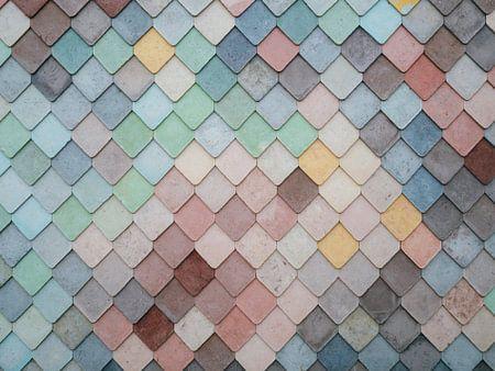 Mozaïek patroon van gekleurde vormen