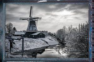 Bolwerksmolen in de winter van VOSbeeld fotografie