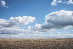 Dreigende wolkenlucht in Noord Frankrijk