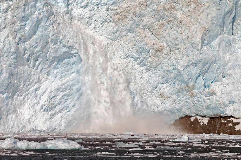 Aialik Gletsjer Alaska  in de Kenai Fjords van Menno Schaefer
