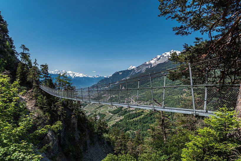 Hangbrug,  Bisse Torrent-Neuf Zwitserland van Ingrid Aanen