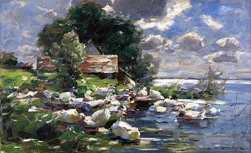 Enten am See, ALEXANDER KOESTER, 1926 von Atelier Liesjes