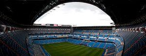 Stadion van Real Madrid in panorama van