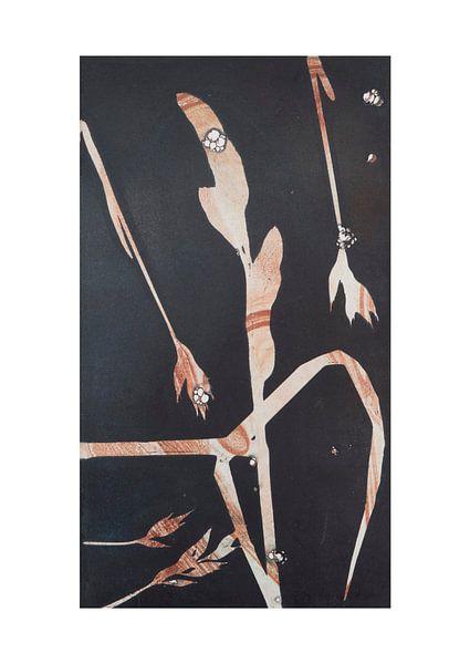 Botanische planten en bloemen afdruk, Grassen van Angela Peters