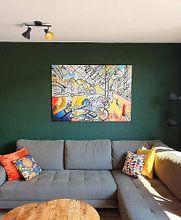 Klantfoto: Nederland Motief 6 van zam art, op canvas