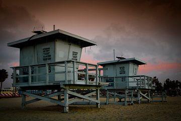 Indrukwekkende zonsondergang op Venice Beach van
